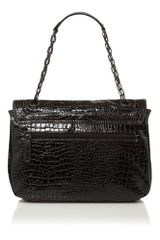 Kenneth Cole Reaction Mercer Street Croc Chain Shoulder Bag in Black - Lyst