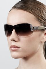 Marc By Marc Jacobs Chaintemple Shield Sunglasses Black - Lyst