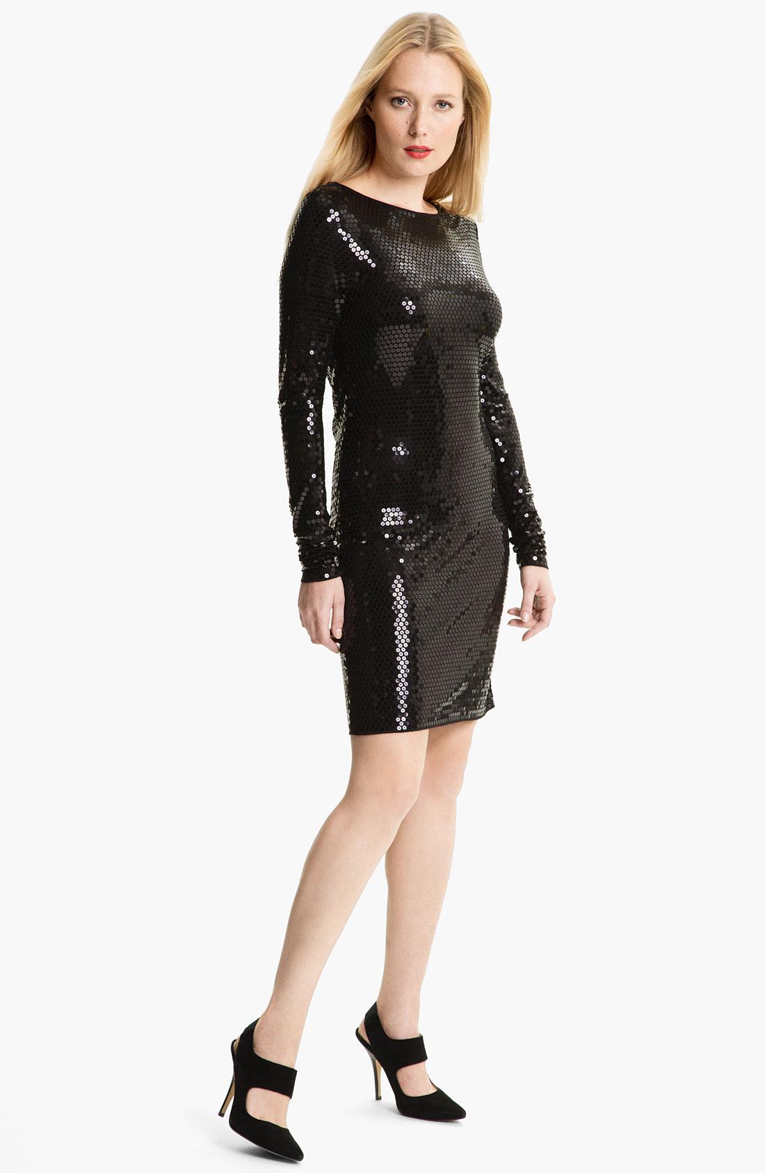 michael kors black sequin dress