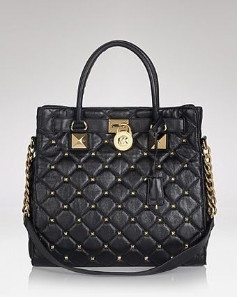 Michael Kors Michael Tote Hamilton Studded North South - Lyst