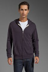 Monrow Heather Fleece Zip Up Hoody - Lyst