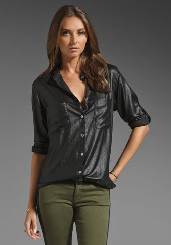 Nightcap Button Down Boyfriend Blouse - Lyst