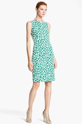 Oscar de la Renta Print Canvas Dress - Lyst