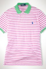 Polo Ralph Lauren Customfit Striped Beach Polo - Lyst