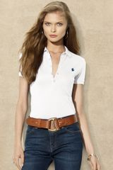 Ralph Lauren Blue Label Julie Long Placket Polo - Lyst