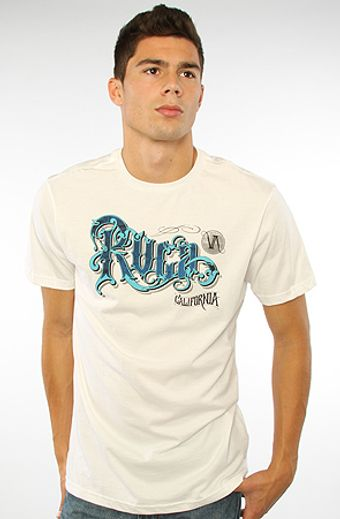 RVCA The Rvca Ornate Tee in White - Lyst
