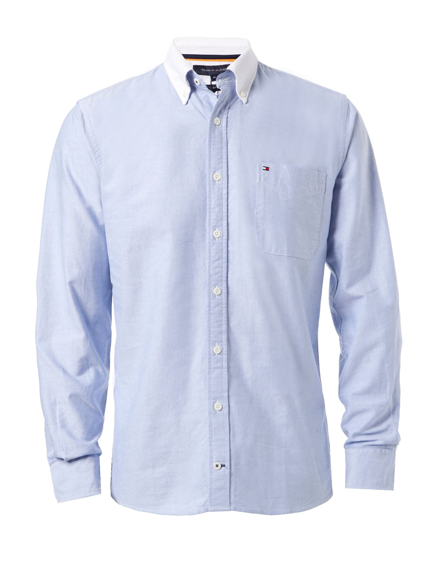 Tommy Hilfiger Custom Fit Jersey Shirt in Blue for Men | Lyst