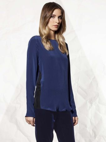 Winter Kate Silk Top with Chiffon Inserts - Lyst