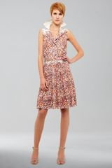 Akris Punto Confetti print Sleeveless Dress - Lyst