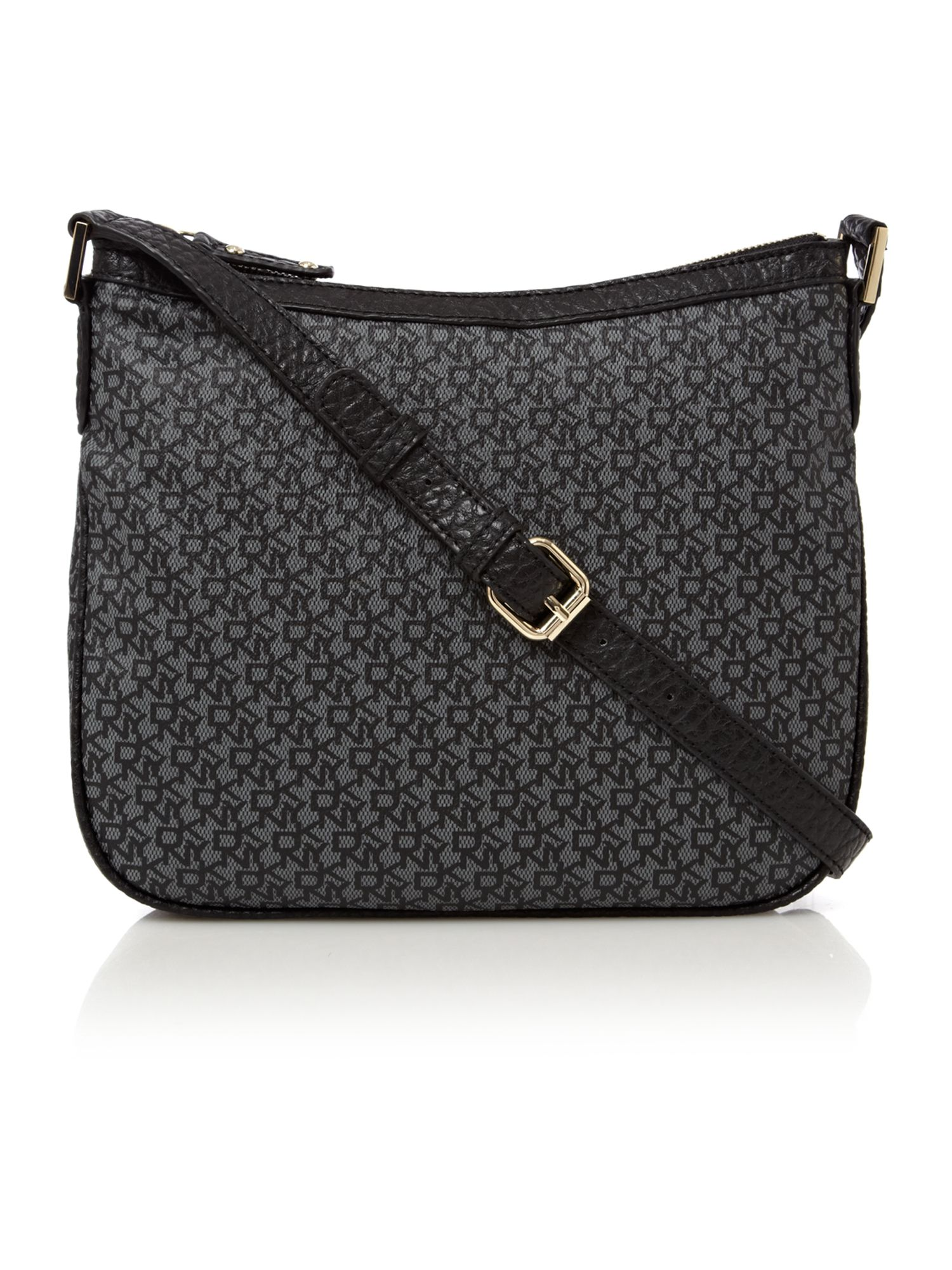 dkny coated logo crossbody bag in black lyst