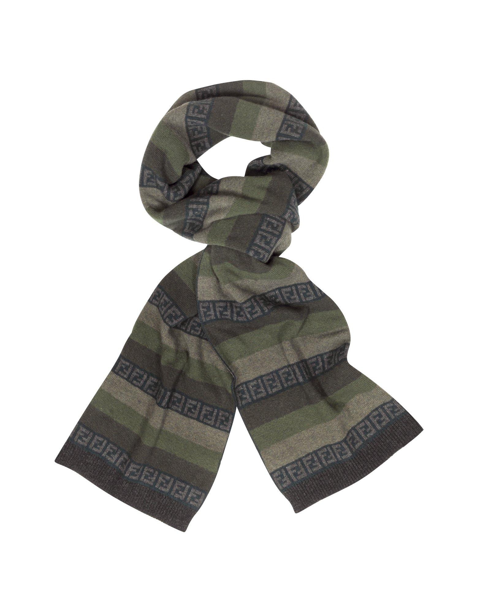 Logo-jacquard Checked Wool Scarf Fendi sSm7K0bulK
