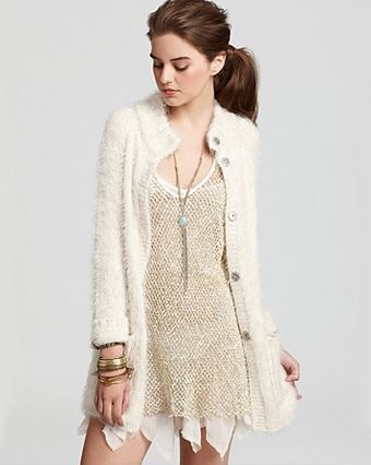 Free People Sweater Roll Away Cardi - Lyst