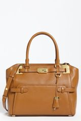 Michael Kors Blake Leather Satchel - Lyst