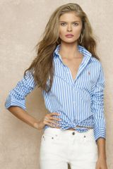 Ralph Lauren Blue Label Nadine Cotton Poplin Shirt - Lyst