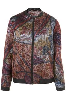 Topshop Stained Glass Bomber Jacket - Lyst