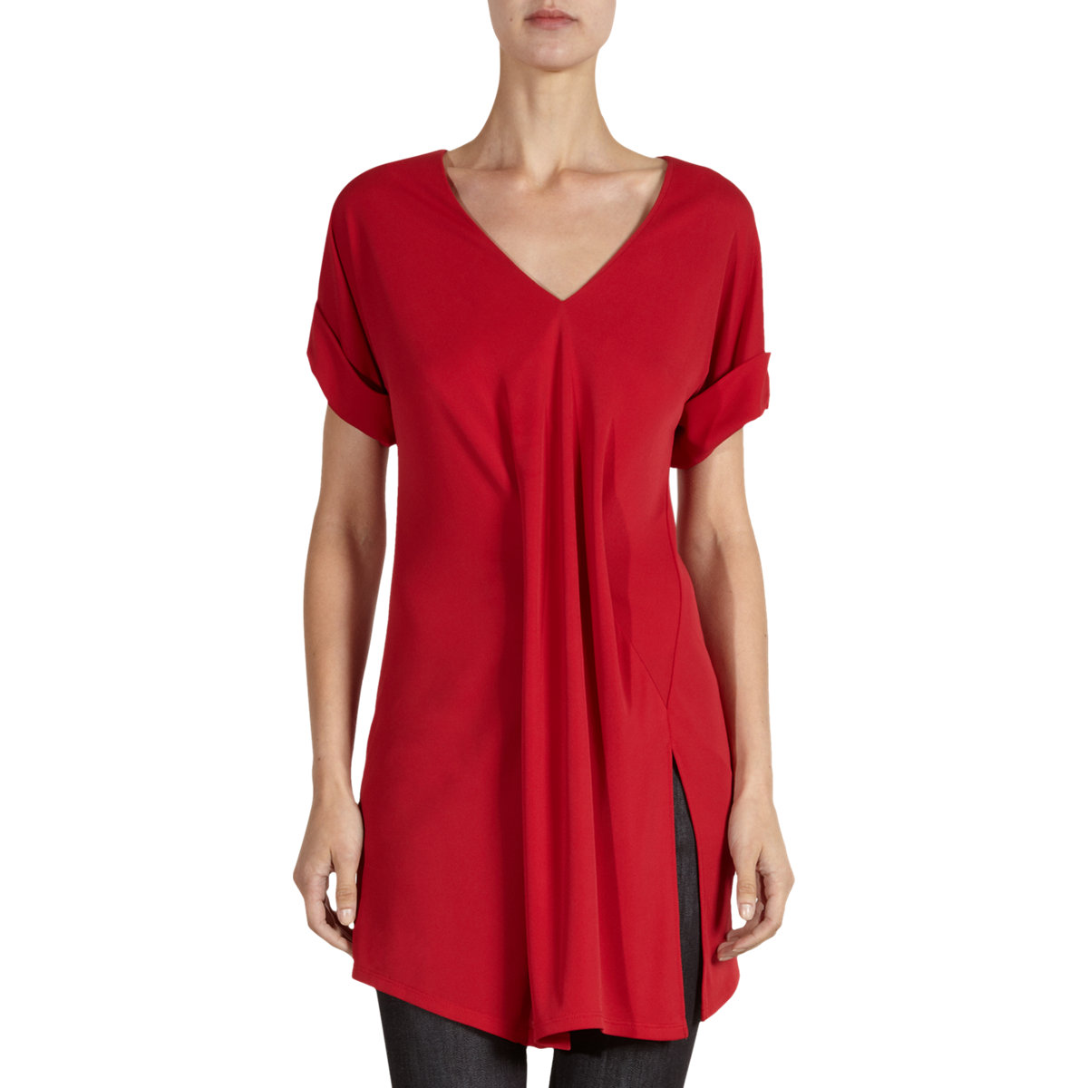 Balenciaga Suspended Tunic Top In Red Lyst