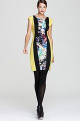 BCBGMAXAZRIA Dress Color Block Printed - Lyst
