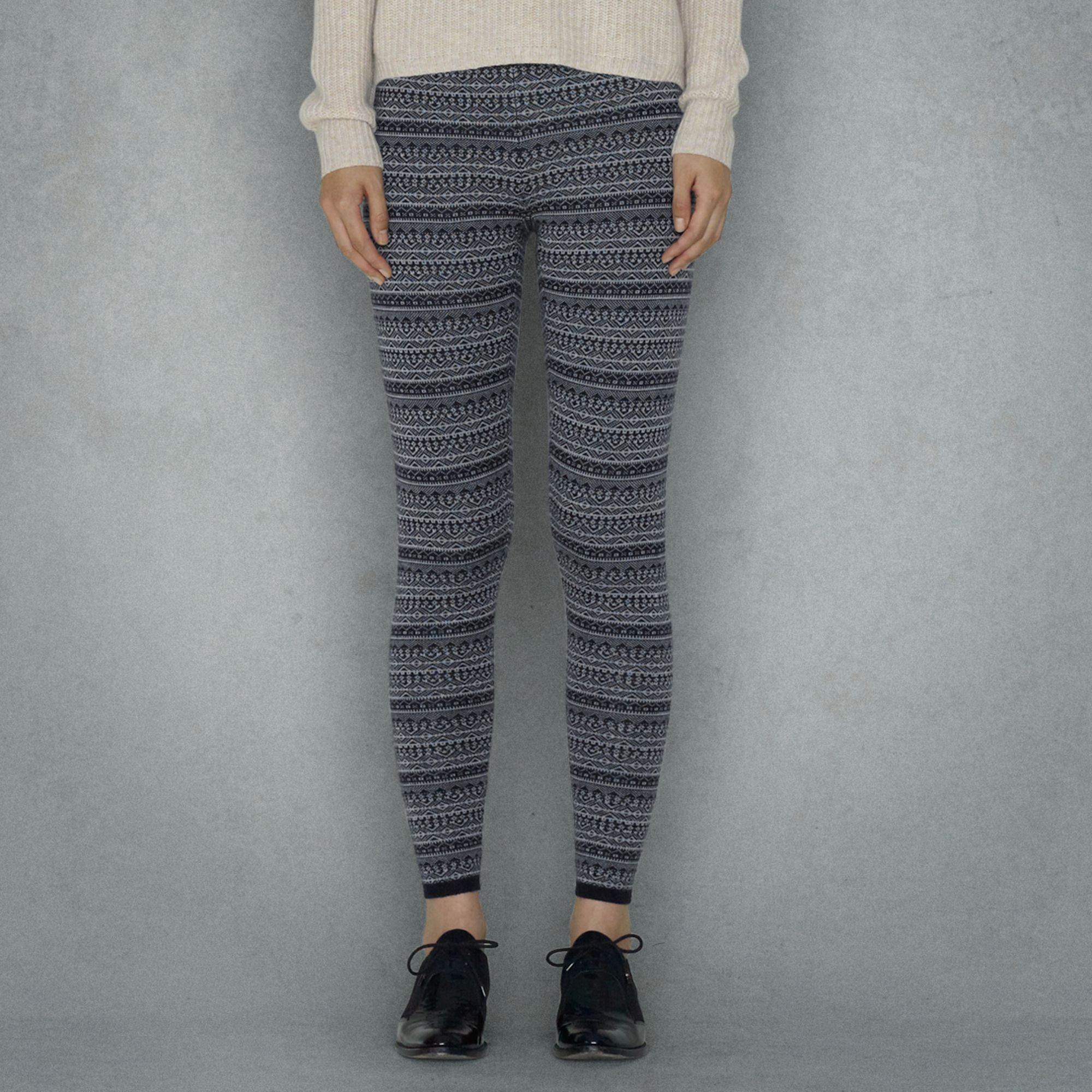 Club monaco Alice Fairisle Sweater Leggings in Gray | Lyst