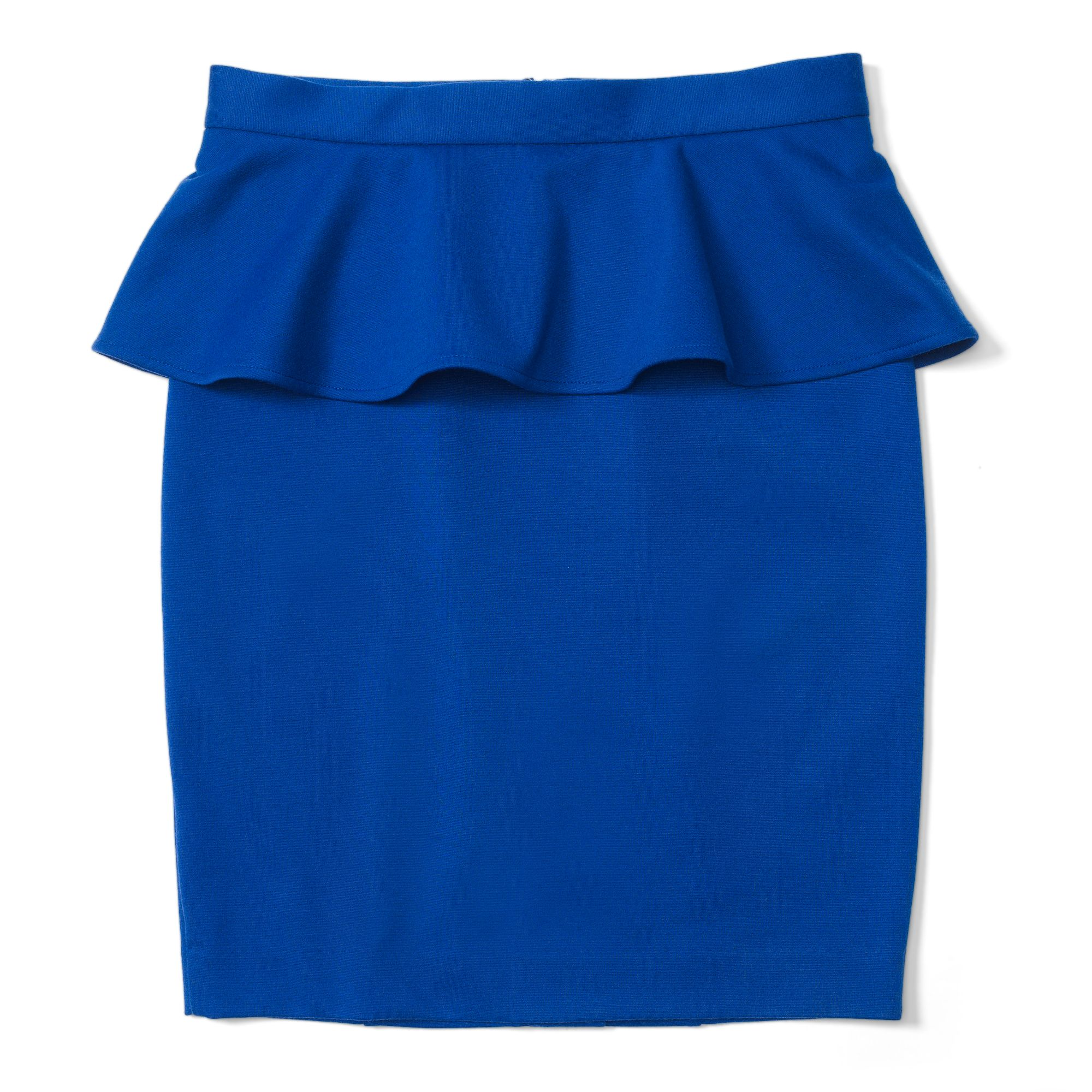 club monaco kate peplum skirt in blue blue lyst