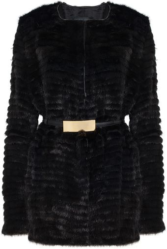 Elie Saab Mink Short Fur Coat - Lyst