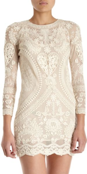 Isabel Marant Devi Dress in Beige (ivory)