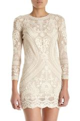 Isabel Marant Devi Dress in Beige (ivory) - Lyst