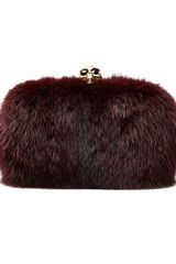 Alexander Mcqueen Classic Skull Box Clutch in Purple (oxblood) - Lyst