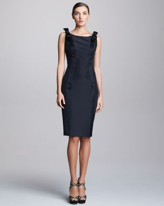 Carolina Herrera Sleeveless Satin Dress - Lyst