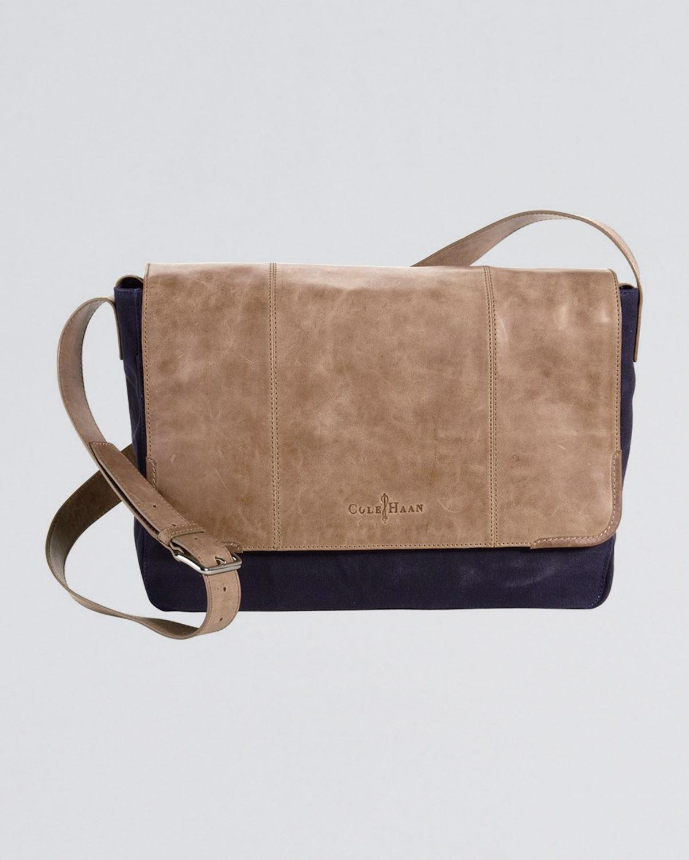 175ff5d653fdd Lyst - Cole Haan Merced Twotone Messenger Bag in Natural for Men