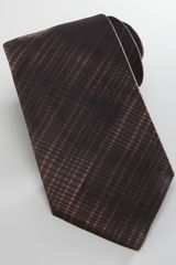 Giorgio Armani Degrade Plaid Silk Tie Brown - Lyst