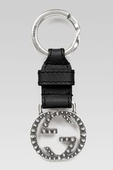 Gucci Studded Interlocking G Key Chain - Lyst