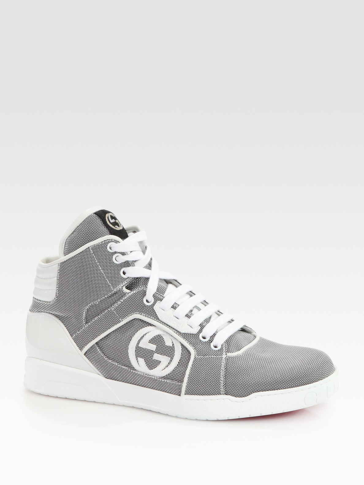 Lyst Gucci Rebound Mid Hightop Sneakers In Gray For Men