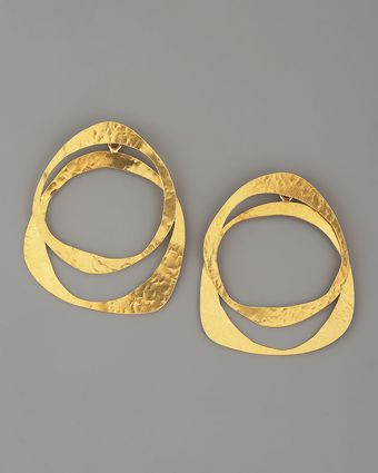 Herve Van Der Straeten Circle Earrings - Lyst