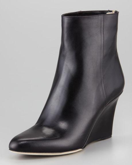 jimmy choo mayor wedge ankle boot in black lyst