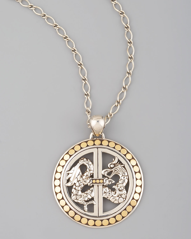 John Hardy Naga Pendant Necklace With Diamonds FSahXMgZz