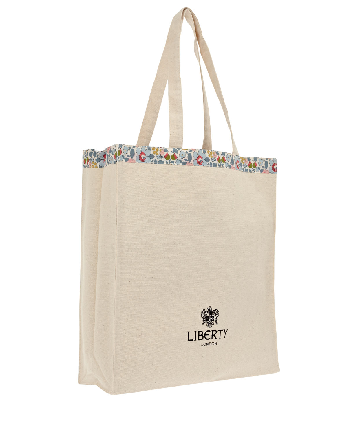 dbd26f0f1a Lyst - Liberty Betsy Print Canvas Tote Bag in Natural
