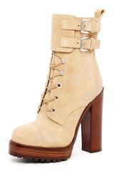 Michael Kors Laceup Buckle Boot - Lyst