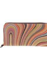 Paul Smith Black Label Striped Zip Up Purse - Lyst