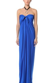 Reem Acra Silk Draped Gown - Lyst