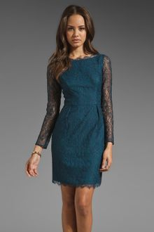 Shoshanna Lace Chantilly Minka Dress - Lyst