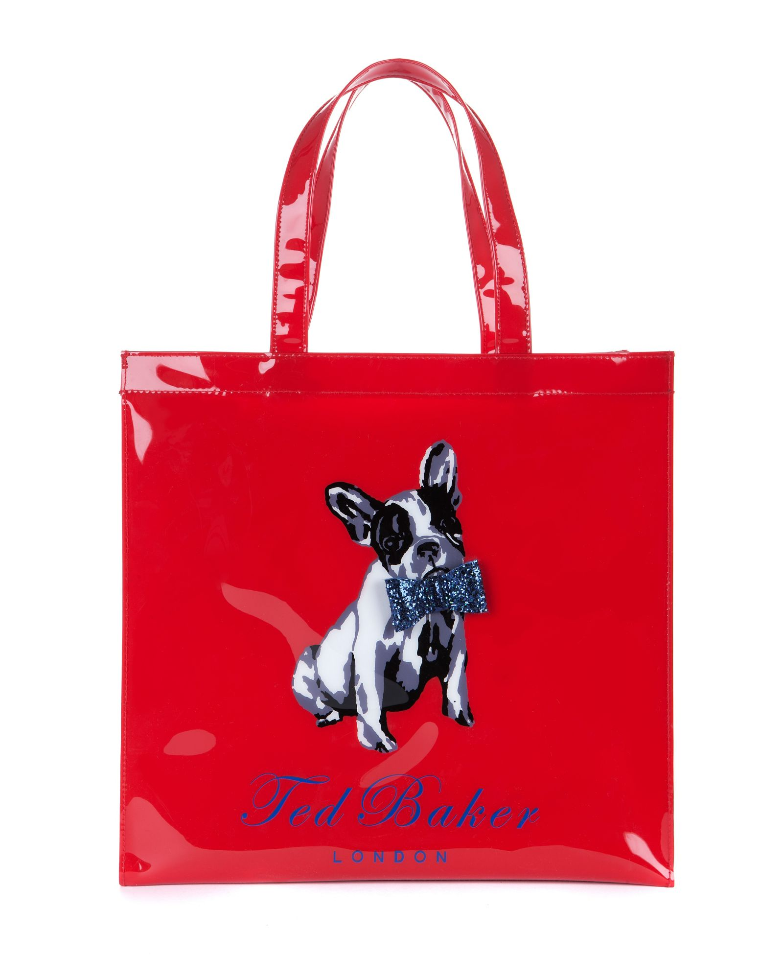 bulldog bags lyst ted baker cottcon french bulldog ikon bag in red 130