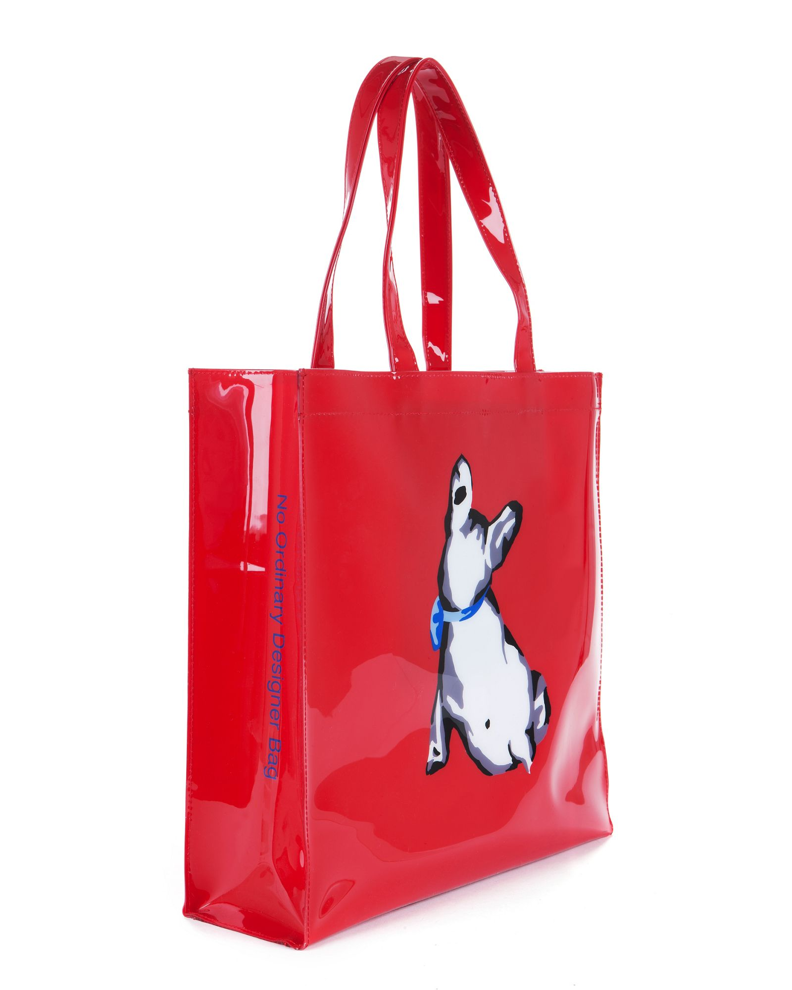 bulldog bags lyst ted baker cottcon french bulldog ikon bag in red 6245