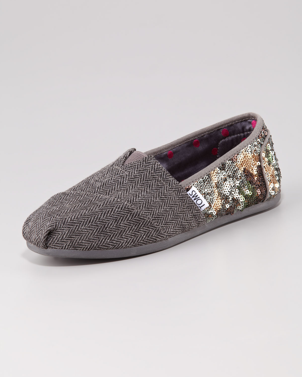 1d2e29ae914 Lyst - TOMS Sequin Wool Slipon in Green