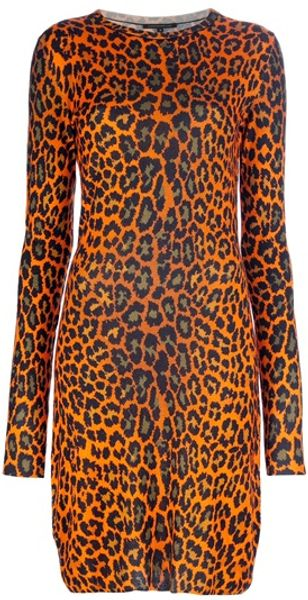 Christopher Kane Leopard Print Jersey Dress - Lyst