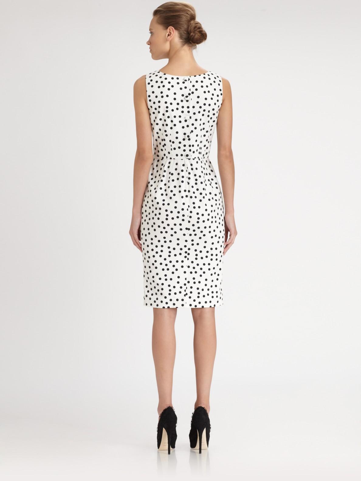 Dolce Amp Gabbana Polka Dot Dress In Black Lyst