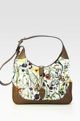 Gucci Jackie Flora Canvas Shoulder Bag - Lyst