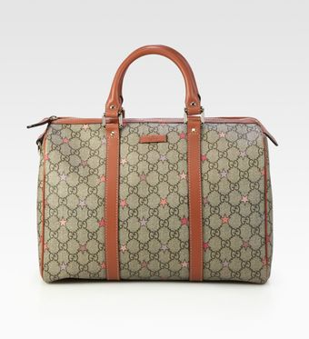 Gucci Joy Gg Supreme Stars Canvas Boston Bag - Lyst