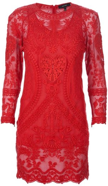 Isabel Marant Lace Dress in Red