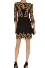 Karen Millen Baroque Mesh Dress in Black - Lyst