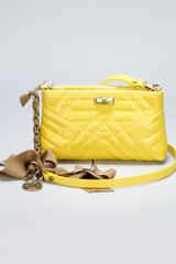 Lanvin Happy Pocket Shoulder Bag Yellow - Lyst